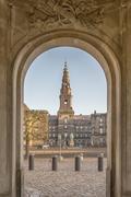 Copenhagen Christianborg Palace Archway Stock Photos