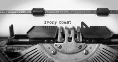 Old typewriter - Ivory Coast Stock Photos