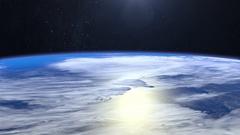 Earth. Flight over the Earth. 4K. Camera flies forward Stock Footage