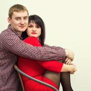Man and woman. Portrait of a beautiful heterosexual couple Stock Photos