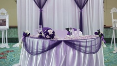 Beautiful wedding decorations flowers Stock Footage