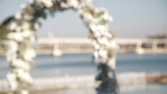 Wedding arch with flowers Stock Footage