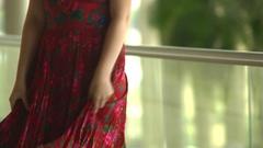 Traditional gypsy dress Stock Footage