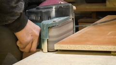 Man working grinder Stock Footage