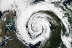 Cyclone - view from space. Elements of this image are furnished by NASA Stock Photos