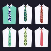 Fashion of different Neckties Piirros