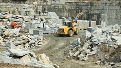 Work Brigade in a stone quarry Stock Footage