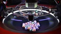 Colourful lottery balls in a sphere Arkistovideo