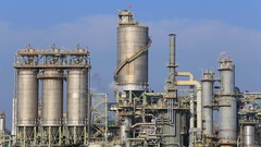 Chemical industry plant, Rayong, Thailand Stock Footage