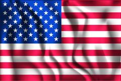 Flag of United States of America. American Flag. Aspect Ratio 2 to 3 Stock Illustration