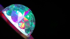 Discolight colorful lamp Stock Footage