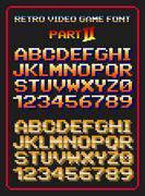 Retro video game font Piirros
