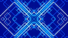 Blue abstract background, moving lines, loop Stock Footage