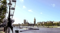 London Eye Big Ben Tag2 4K Stock Footage