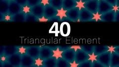 40 Triangular Elements Stock Footage