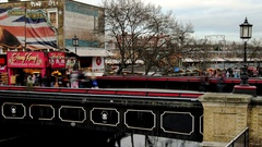 Camden Market - Camden High Street in Motion Stock Footage