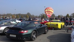 Auto Motor Show, People Looking at Cars in Monza, Italy Stock Footage
