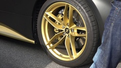 Auto Motor Show, Ferrari Wheel Stock Footage