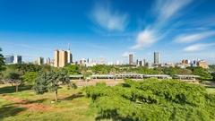 Nairobi Skyline And Uhuru Park Long Exposure Timelapse, Kenya in 4K Stock Footage