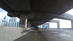 San Francisco Oakland Bay Bridge Car Mount Time Lapse Stock Footage