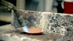 Annealing metal Stock Footage