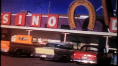 Cactus Pete's Casino Hotel in Jackpot, Nevada circa1950, 3962,vintage home movie Stock Footage