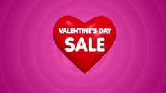 Valentines day sale offer title concept animation Stock Footage
