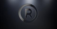 Registe Trademark Black 3d Icon Stock Footage