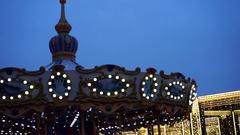 A Circus Carousel entertainment Stock Footage