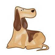 Cartoon dog icon Stock Illustration