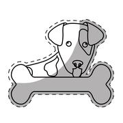 Dog breed icon image Stock Illustration