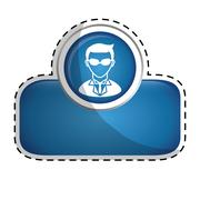 Spy pictogram icon image Stock Illustration