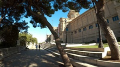 View of Catalunya National Museum of Art. Barcelona, Spain. 4K. Stock Footage