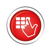 Hadn typing safety pin or password icon image Stock Illustration