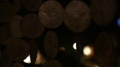 Shell wall - Wind Chimes Stock Footage