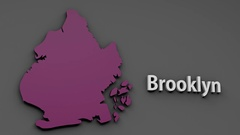 4K Brooklyn Map Shape with Matte 3D Animation 1 Stock Footage