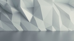 Abstract White Background Random Motion, 3d Loopable Animation 4k Stock Footage