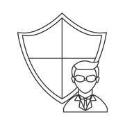 Hacker avatar character Stock Illustration