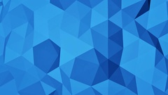 Blue polygonal geometric 3D surface seamless loop 4k UHD (3840x2160) Stock Footage
