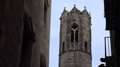 Gothic Quarter of Barcelona. Spain. 4K. Stock Footage