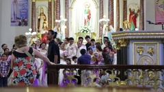 Crowd of people in a wedding cerimony Stock Footage