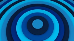 Blue concentric circles 3D animation seamless loop 4k UHD (3840x2160) Stock Footage