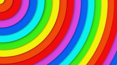 Rainbow concentric circles 3D animation seamless loop 4k UHD (3840x2160) Stock Footage