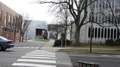 Establishing Daytime Shot of Oberlin College in Ohio V2 Stock Footage