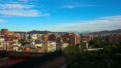 Roofs of old houses in Barcelona. Spain. 4K. Stock Footage