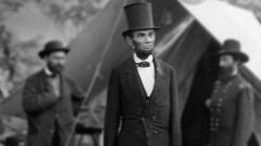 Moving civil war photo Pinkerton Abraham  Lincoln McClernand, Antietam 1862 Stock Footage