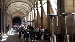 A cozy cafe in the heart of Barcelona. Spain.  4K. Stock Footage