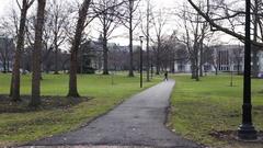 Establishing Daytime Shot of Oberlin College in Ohio. Stock Footage