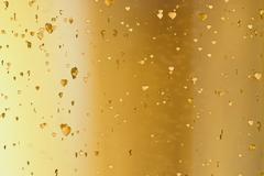 Valentine day golden hearts shape rise like frizz champagne bubbles movemen.. Stock Illustration