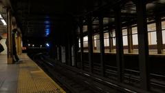 4K Train Entering Station Stock Footage